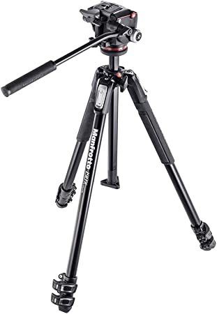 Manfrotto 190x 3 Segmente Aluminium Stativ Mit 2 Wege Kamera