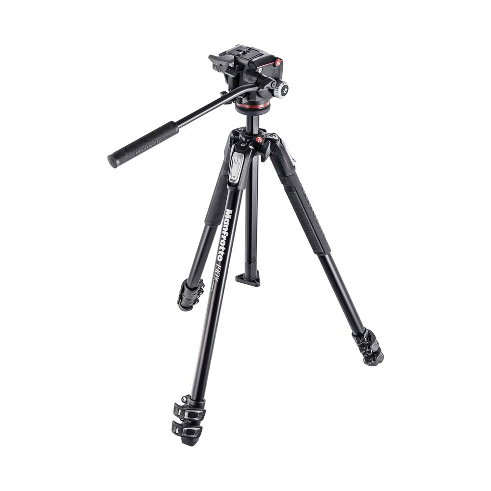Manfrotto 190X Aluminum 3-Section Tripod Kit with XPRO Fluid Head (MK190X3-2W) by Manfrotto