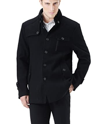 Zicac New Winter Wam Coat Mens Business Jacket Wool Military