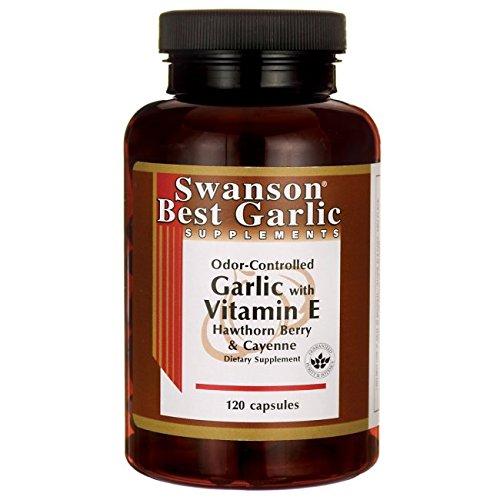 Swanson Garlic with Vitamin E Hawthorn Berry & Cayenne 120 ()
