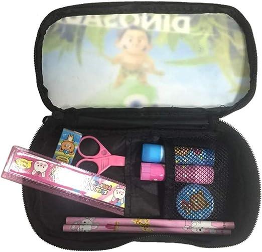 Splatoon Trousse /à Crayon Personnalit/é Bo/îte /à Crayons Stylo Etui Porte-Monnaie Maquillage Toile Tissu /Étudiant Papeterie Color : A01, Size : 22 X 11 X 4.5cm