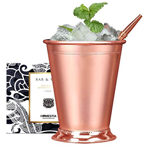 - Beaded Mint Julep Cup Copper Stainless steel Moscow Mule Mug 12oz by Homestia for mule cocktail beverages soft drinks Handcrafted