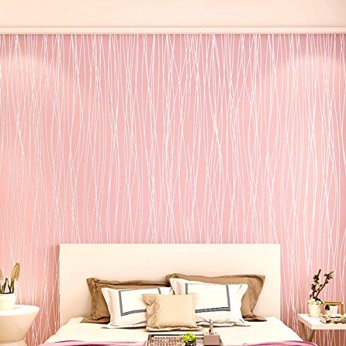 3D Pink Stripe Fashion Wallpaper Non-Woven Living Room Bedroom 20.8 ...