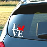 Bearded Dragon Love - Vinyl decal in two color.