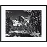 Framed Art Print, 'Half Dome, Winter - Yosemite National Park, 1938' by Ansel Adams: Outer Size 29 x 23''