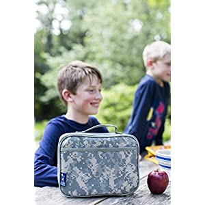 Lunch Box, Wildkin Lunch Box, Insulated, Moisture Resistant, and Easy to Clean with Helpful Extras for Quick and Simple Organization, Ages 3+, Perfect for Kids or On-The-Go Parents – Cardinal Red