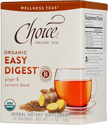 - Choice Organic Teas Wellness Teas, 16 Tea Bags, Easy Digest
