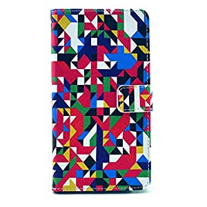 Sparkle Premium Vintage Pu Leather Wallet Case Cover for Samsung Galaxy Note 4,Geometrical Figure Drawing