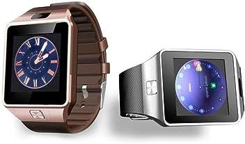 Riscko Reloj Inteligente Smart Watch Dz09 Blanco: Amazon.es ...