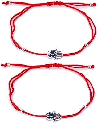 Evil eye adjustable bracelets Star charm bracelet Pink Cord bracelet for kids Nylon cord bracelet Girls Charms bracelet Gift for girls