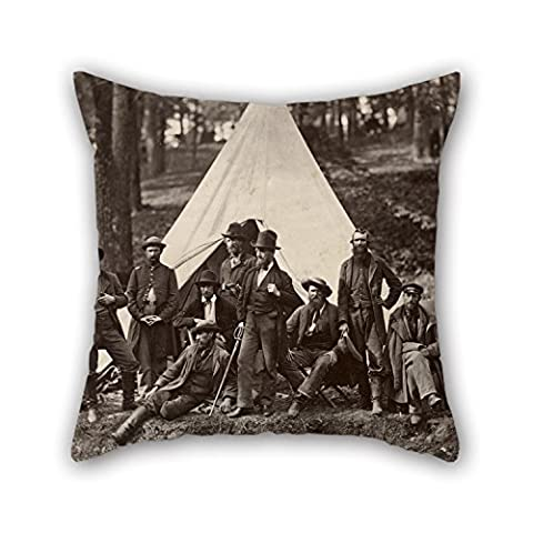 Loveloveu Oil Painting Alexander Gardner - Group Of Guides For The Army Of The Potomac Pillow Cases ,best For Bf,seat,boys,gril Friend,teens Girls,christmas 20 X 20 Inches / 50 By 50 Cm(both (Alexander Wang Duffle)
