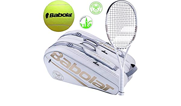 Amazon.com: Babolat Pure Strike Team Wimbledon Tennis ...