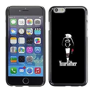EJOY---Cubierta de la caja de protección la piel dura para el / iPhone 6 / --Yourfather Estrella Guerra Darth Vade