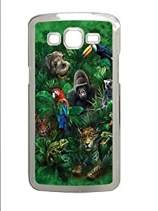 Jungle Friends Animal 2 Custom Samsung Grand 7106/2 Case Cover Polycarbonate Transparent by supermalls
