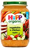 HiPP Organic Stage 2 From 7 Months Vegetable and Chicken Risotto 6 x 190 g (Pack of 2, Total 12 Pots)