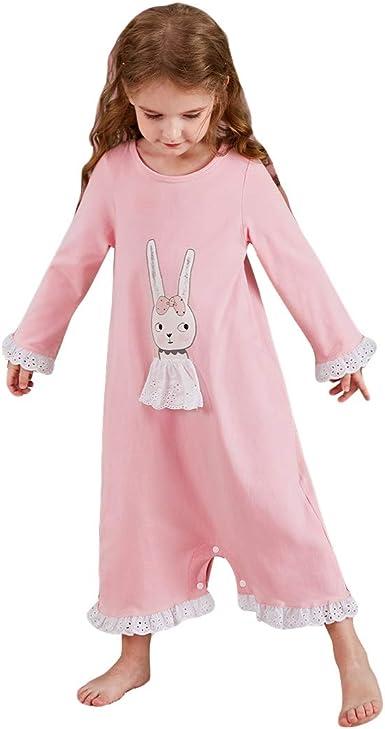 Camisón para Niñas Algodón de Manga Larga Pijamas Mono Princesa Pijamas y Batas: Amazon.es: Ropa y accesorios