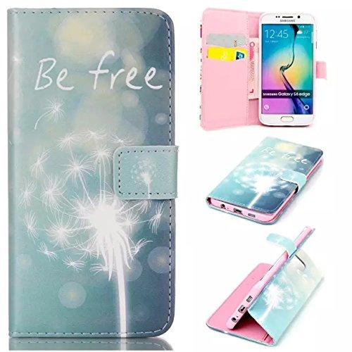 aeeque se, iPhone 5/5S/5C/6/6S (Plus), Samsung Galaxy S3/S4/S5/S6/S6Edge/S6Edge Plus/J5/Note 5/S7/S7edge/G360/G530/i9060, Sony Xperia M4/Z5/Z5mini, Huawei P8Lite elegante dibujo pintura patrón f Dandelions White