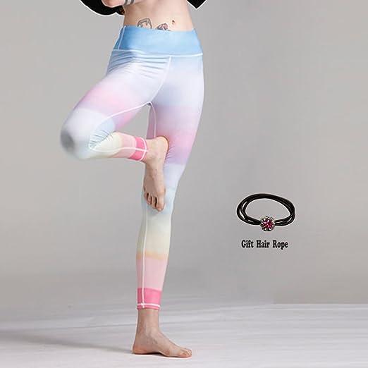 Huoduoduo Calzas De Yoga De Colores del Arco Iris De Color ...