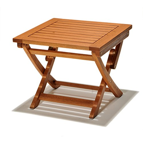 Chichester FSC Eucalyptus Wood Outdoor Side Table: Amazon.co.uk ...