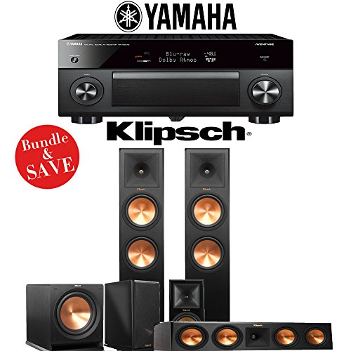 Klipsch RP-280F 5.1-Ch Reference Premiere Home Theater System with Yamaha AVENTAGE RX-A2070BL 9.2-Channel Network A/V Receiver by Klipsch