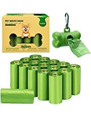 VanStar Biodegradable Scented Pet Waste Bags for Dog Cat, 16 Rolls Total of 240, Extra Thick Large Leak Proof Environment Poop Bags with Free Dispenser