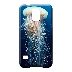 samsung galaxy s5 Highquality Hard Protective Cases mobile phone case Jellyfish marine animal fish ocean