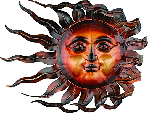 Regal Art &Gift Windswept Sun Wall Decor - Hanging Sun Face