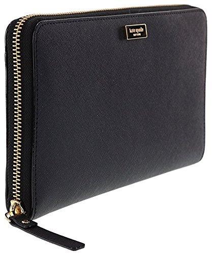 Kate Spade New York Laurel Way Talla Saffiano Leather Wallet Clutch (Black)