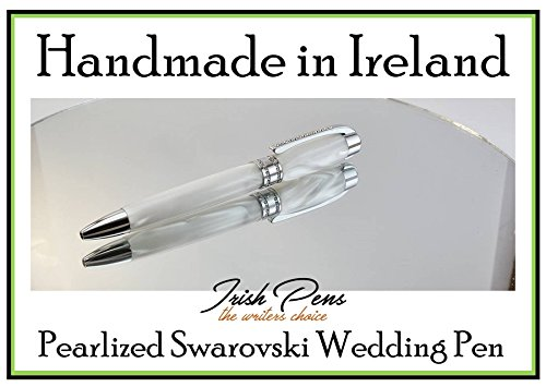 A handmade Wedding Pen, your first heirloom purchased together, A unique gift for the bride and groom, very special gift. Our Jewel Pen with Genuine Swarovski Crystals by Irish Pens