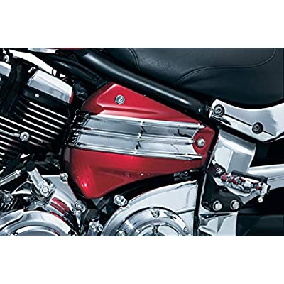 Kuryakyn 8944 Motorcycle Accent Accessory: Side Cover Accent for 2006-17 Yamaha Motorcycles, Chrome: Automotive
