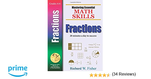 Workbook finding percent worksheets : Mastering Essential Math Skills FRACTIONS: Richard W. Fisher ...