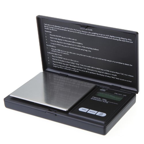 Kingzer Mini Precise 100g 0.01g LCD Digital Pocket Jewelry Gold Diamond Scale Gram by KINGZER