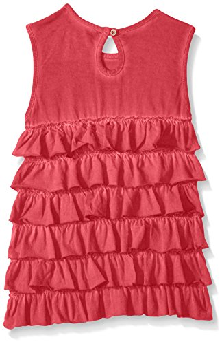 Burt's Bees Little Girls' Toddler Organic Tiered Ruffle Tank and Star Capri Set, Cranberry, 4T by Burt's Bees Baby (Image #2)