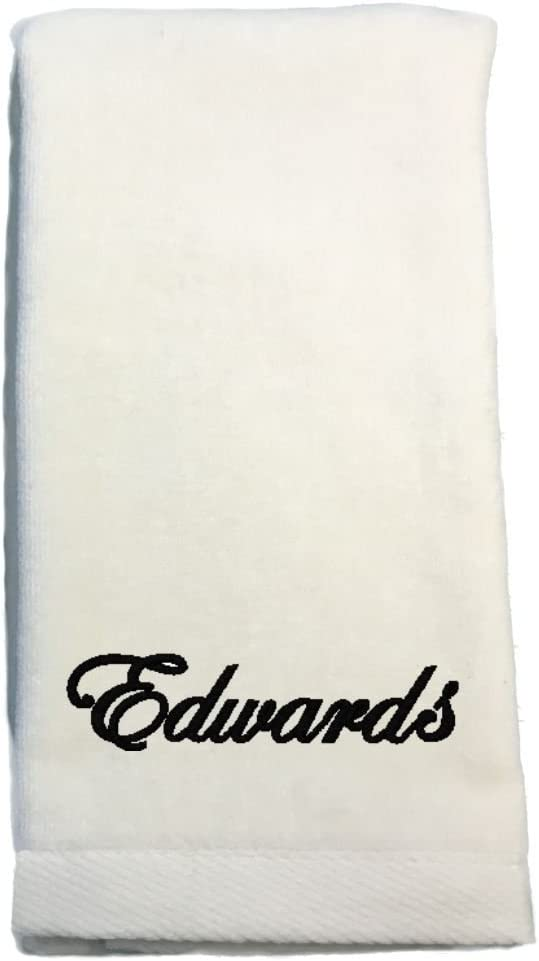 Personalised Heart design Towel Hand or Bath sizes and choice of colours