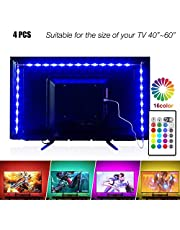 PANGTON VILLA Led Strip Lights, USB LED TV Backlight Kit with Remote - 16 Color Changing 5050 LEDs Bias Lighting for HDTV
