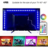 PANGTON VILLA Led Strip Lights 6.56ft for 40-60in TV USB Backlight Kit with Remote, 16 Color 5050 Bias HDTV, for 40-60