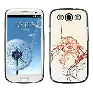 EJOY---Cubierta de la caja de protección la piel dura para el / Samsung Galaxy S3 / --Cara Remolino