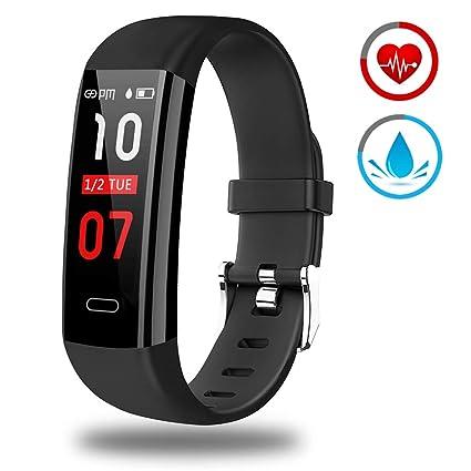 Pulsera Actividad - Reloj Inteligente Monitor de Ritmo Cardíaco Impermeable Fitness Trackers con Monitor de sueño Podómetro Multi Deporte Smartwatch ...