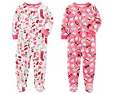 Carters Baby Toddler Girls 2 Pack Fleece Footed
