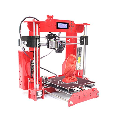 TNICE MY2 Desktop RepRap i3 3D Printer DIY Kit ST Mainboard Integrated Extruder 2004 LCD Display Acrylic Frame with 100m PLA Filament Work with ABS PLA - St 100 Main