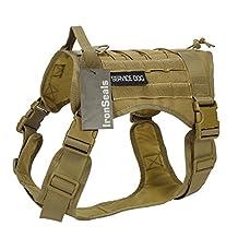 IronSeals Tactical Service Dog Vest Military Patrol K9 Dog Harness Molle Dog Vest Harness with Handles