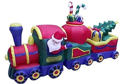 christmas inflatable north pole railway christmas train
