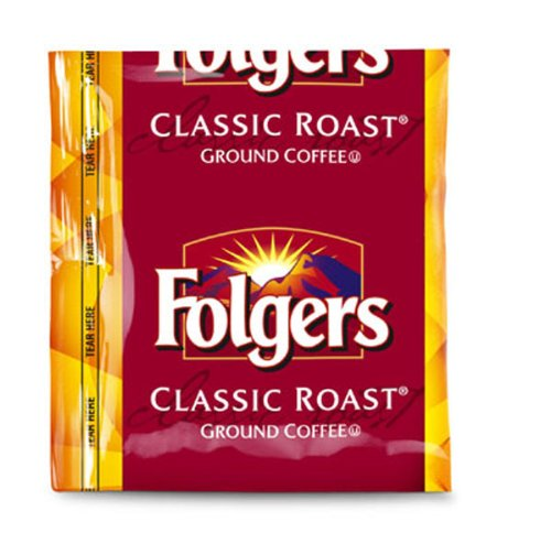 FOLGER'S Classic Roast Coffee Regular Fraction Packs, 1.5-Ounce Boxes (Pack of 150) by Folgers