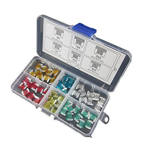 DIGITEN Assorted Auto Car Micro Mini Blade Fuse 5A 10A 15A 20A 25A 30A Low profile (pack of 60)