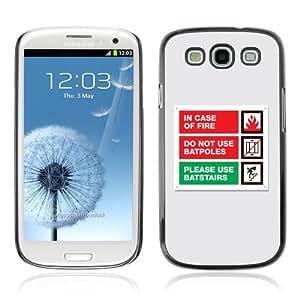 YOYOSHOP [Funny Emergency Message] Samsung Galaxy S3 Case