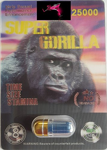 Super Gorilla EXTREME 25000 - LIMITED EDITION BEST IN THE WORLD FOR A NIGHT YOU'LL NEVER FORGET AND WILL LEAVE YOUR PARTNER BEGGING FOR MORE PLUS LOVE POTION EXCLUSIVE PEN (12) ()