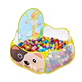 EocuSun Kids Ball Pit Ball Tent Pop up Children Baby Toy Toddler Ball Pit for Indoor Outdoor Play, Balls Not Included (Yellow)