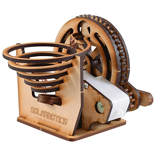 Marble Machine Kit, A Buildable Battery Powered Desktop Marble Run