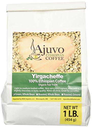 Ethiopian Yirgacheffe Coffee - Green, Whole Bean (1 lb.)