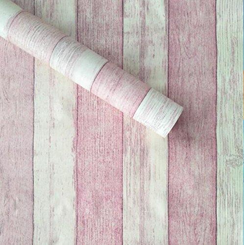 YUELA Papel tapiz de textura de madera autoadhesivas muebles archivadores reformado adhesivos impermeables Dormitorio Dormitorio Decoración 3D en la ...